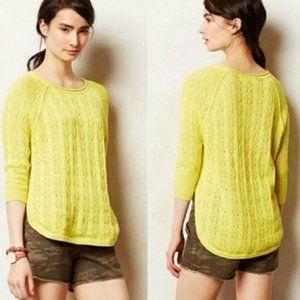 Anthropologie Sparrow Neon Cotton Sweater